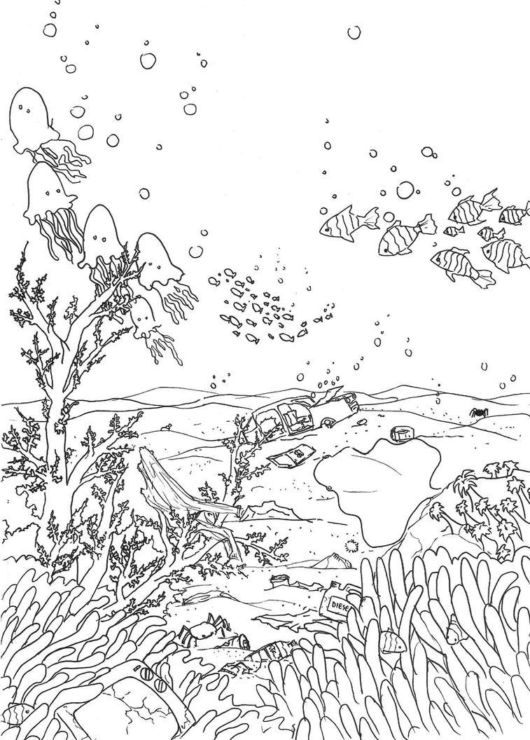 Line Art Underwater : Underwater by little endian on deviantart