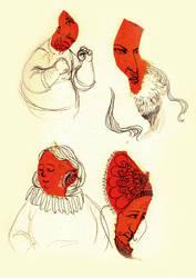 Weird faces by Little-Endian