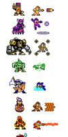 MegaMan IDK Robot Sprites