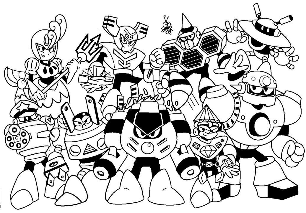mega man coloring pages - mega man robot masters coloring pages coloring pages