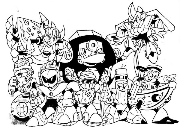 fabulous megaman idk robot masters by marioshi with mega man coloring pages