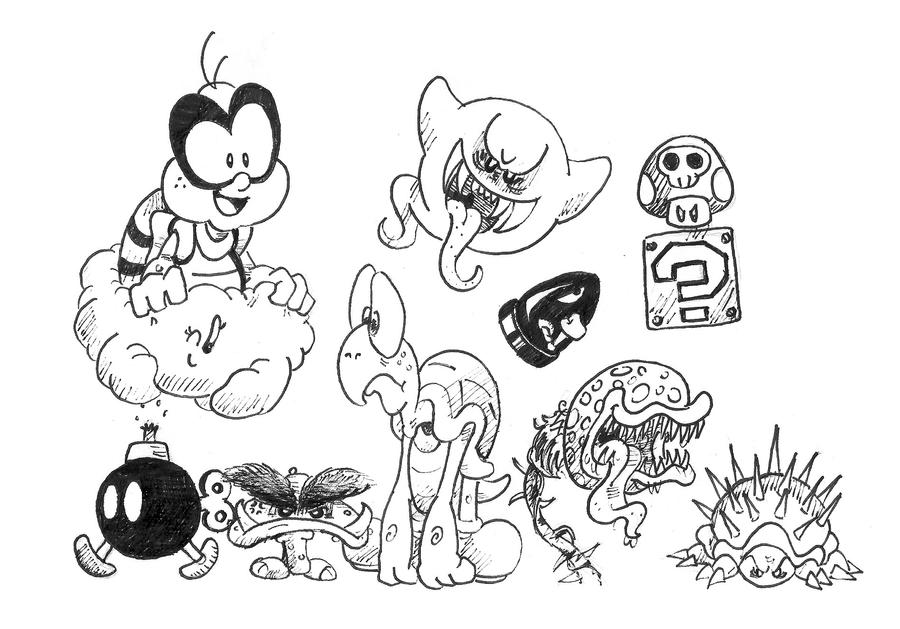 Mario Enemies TOONED by Marioshi64