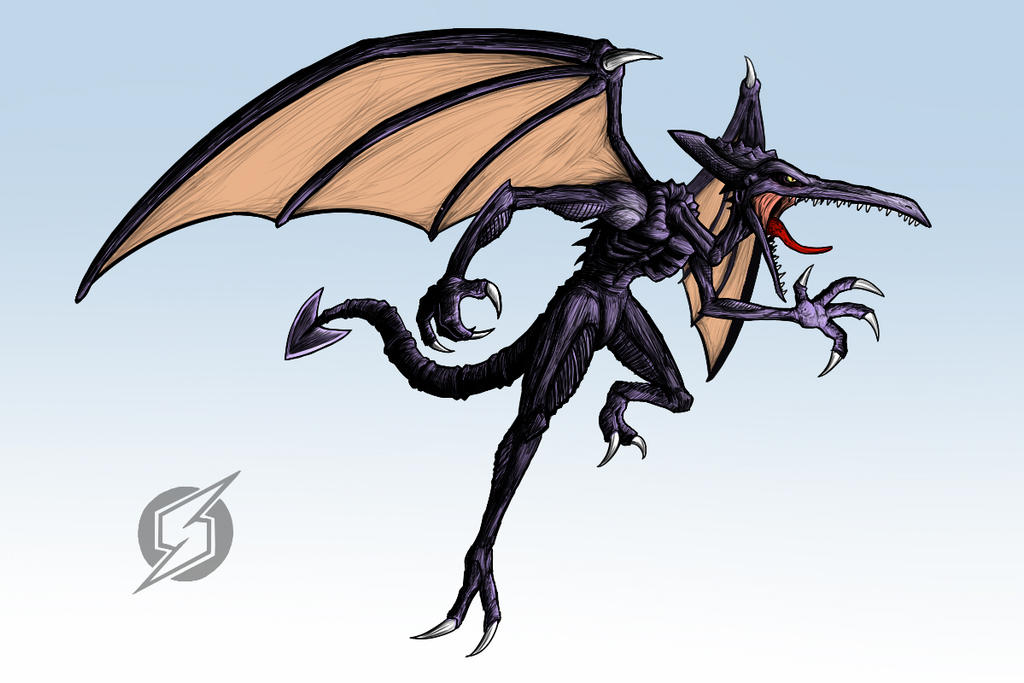 Ridley for Smash 4! by Marioshi64