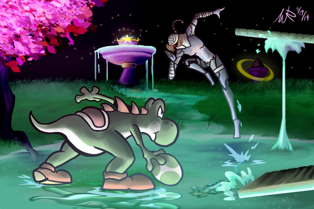 Yoshi vs Sheik by Marioshi64