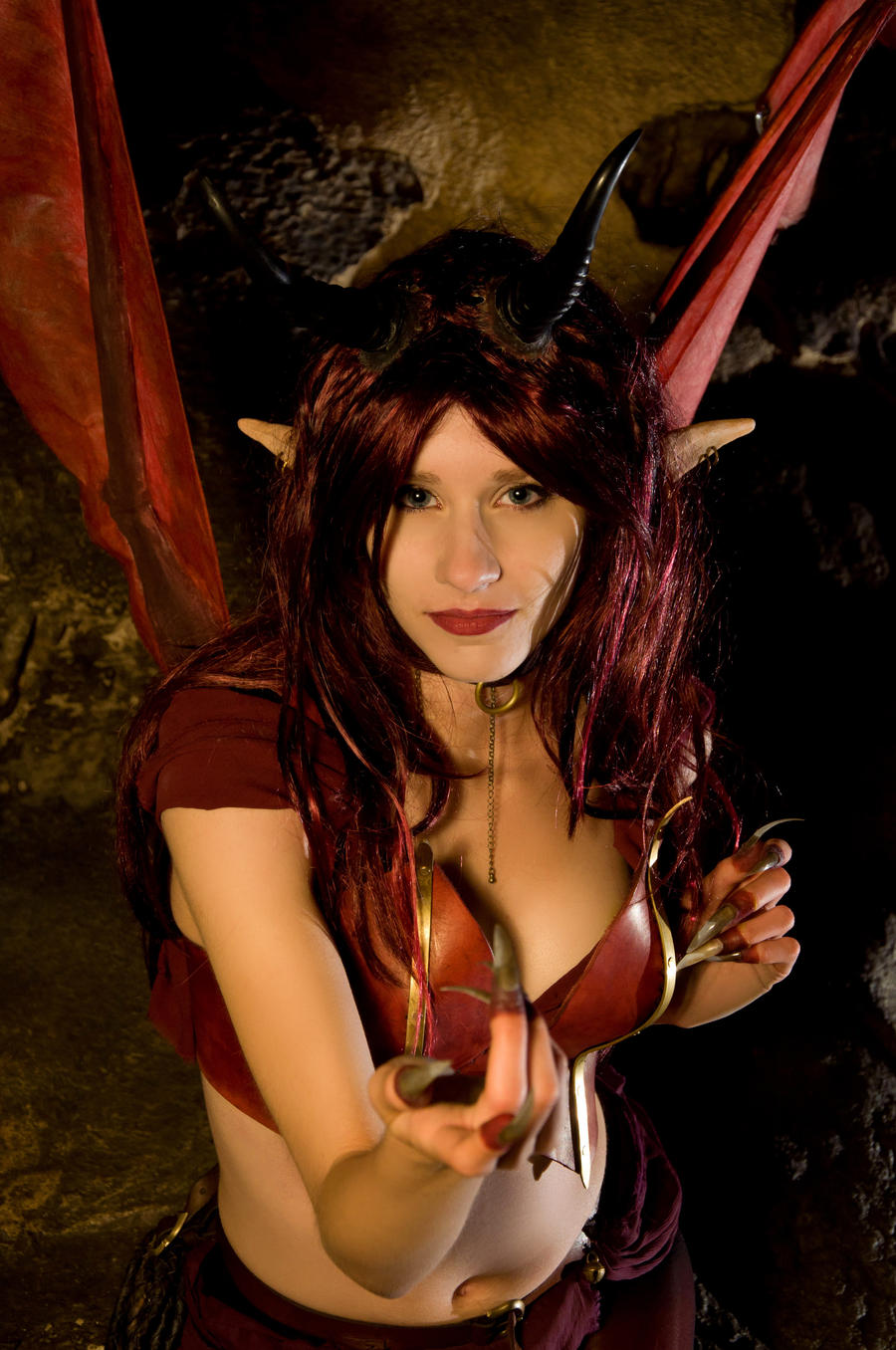 Succubus and elf adult image