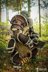 Riddin' ! Warcraft Orc - Horde Cosplay BTS by Carancerth