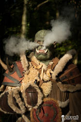Smokin' ! Warcraft Orc - Horde Cosplay BTS by Carancerth