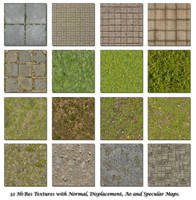 Bricks Grass Floor Textures by blenderunity3d