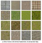Bricks Grass Floor Textures
