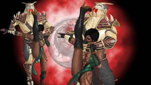 Jade vs Shao Kahn Wallpaper