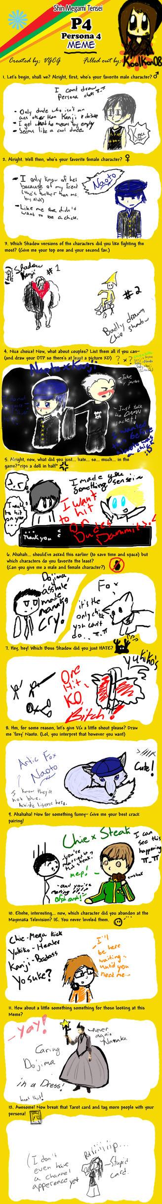 Persona 4 meme- The Lame Way by koolkon08