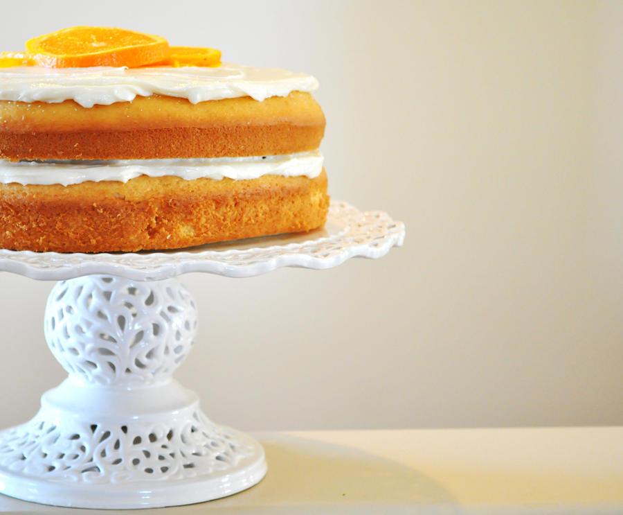Orange Cream Cake by TantalizedBaker