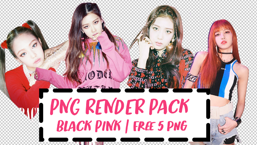 Black Pink 'As if it's your last' png pack