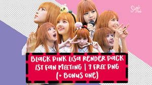 Black Pink 1st Fan Meeting (Lisa) PNG Pack