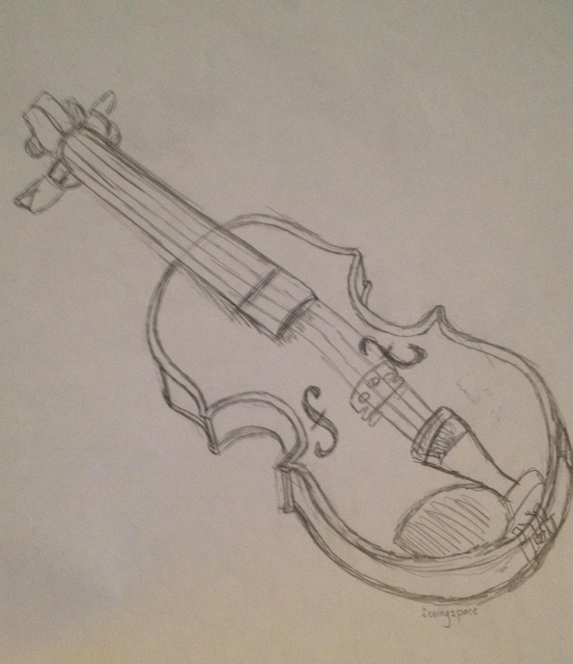 vector sketch contrabass violin the geometric