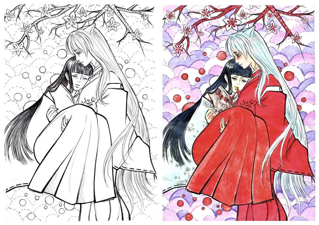 Inuyasha and Kikyo by Juli-Yashka on DeviantArt