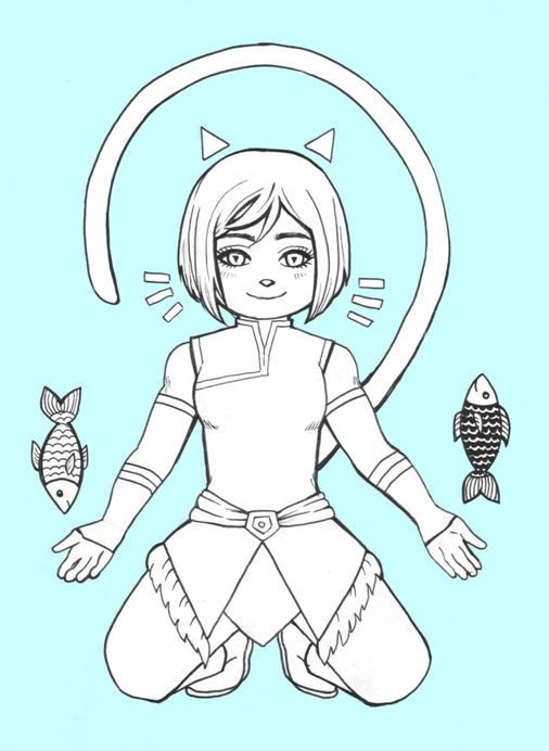 LoK  kitty Korra by Juli-Yashka