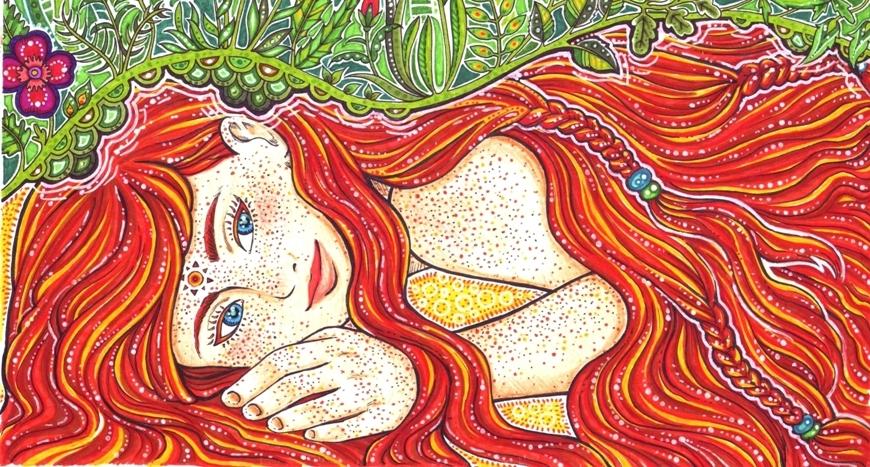 Sun-girl by Juli-Yashka