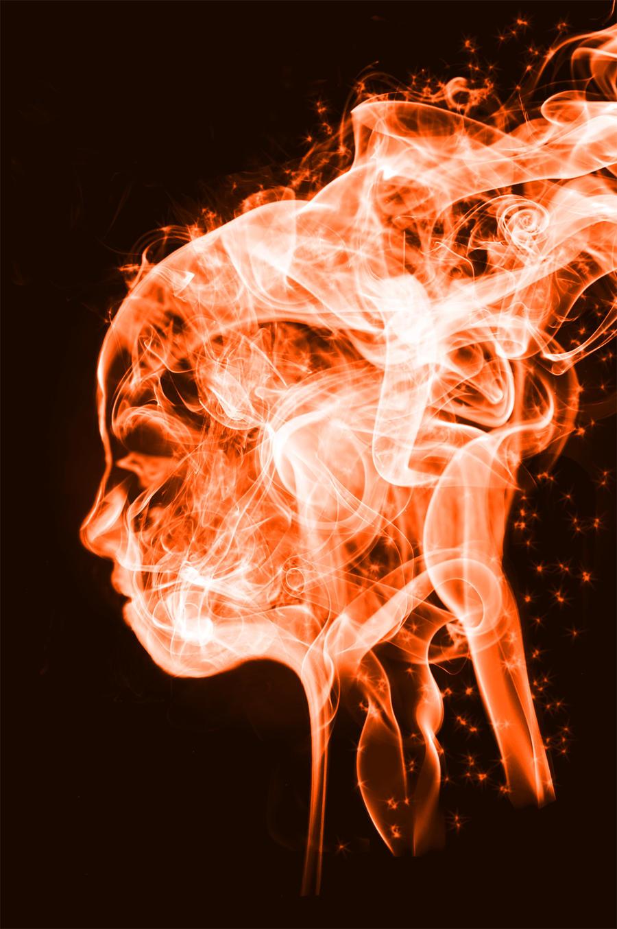 Fire + Smoke Portrait by grayDeviant