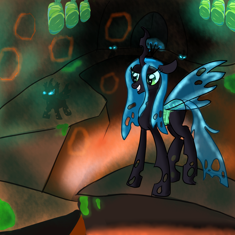 Changeling Queen Chrysalis by Ailynd
