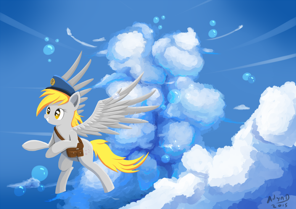 Derpy Skies by Ailynd