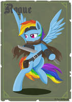 Rogue - Rainbow Dash by Ailynd