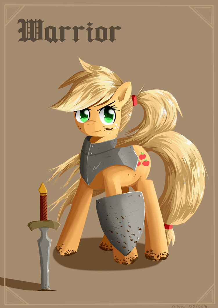 Applejack - Warrior by Ailynd
