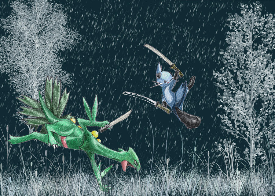 Sceptile and Dewott by ToRnUpTo