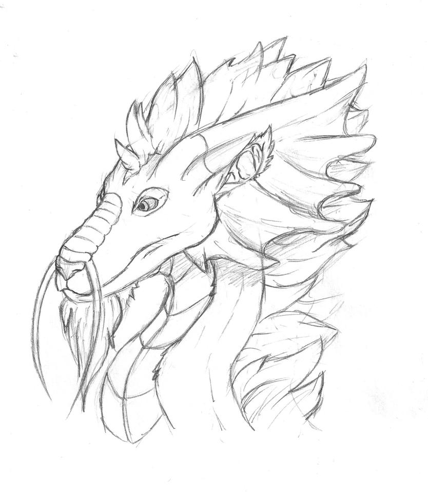 Lung Dragon Practice Sketch by quincyfangirl