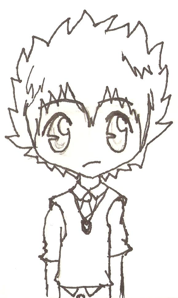 Outline: Chibi Tsuna by ChibiFox27
