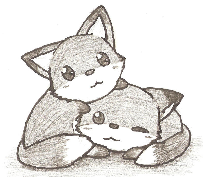 Foxies by chibifox27 on deviantart for Cool fox drawings