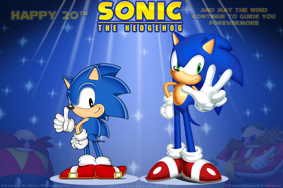 Collab The Modern Classic 3 Sonic S 20th By Guardianmobius On Deviantart