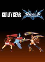 Makoto vs Jam  (Blazblue X Guilty Gear) by MetaKnuxX8