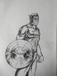 Captain America (inks) by CheeseburgerJesus