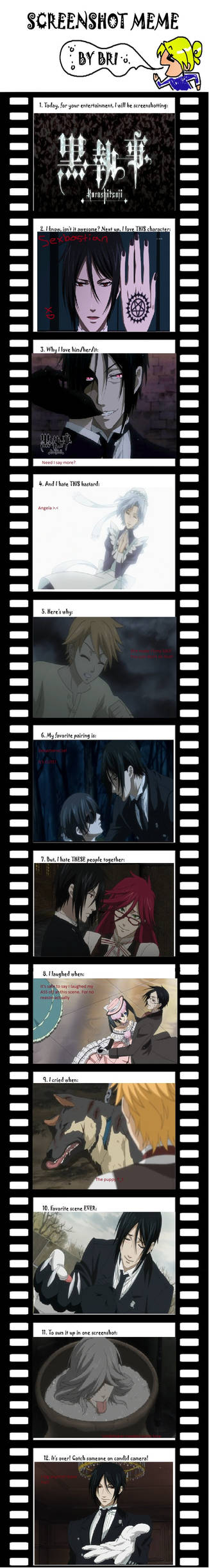 Kuroshitsuji screenshot meme