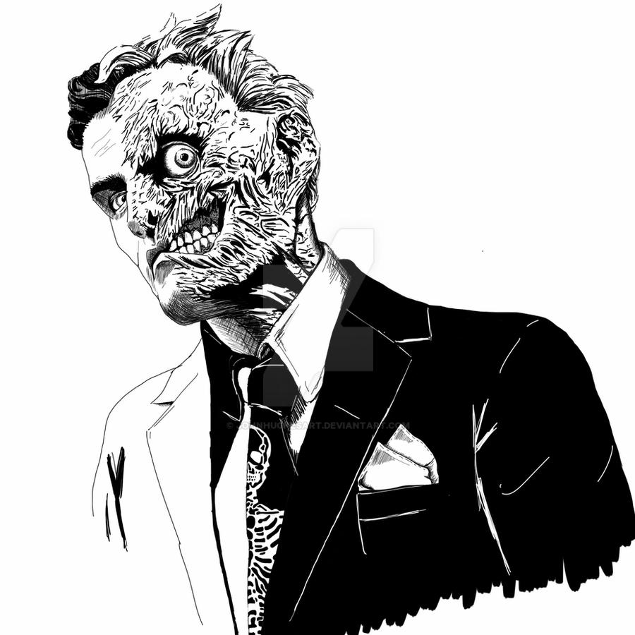 Harvey Two Face by JohnHughesArt