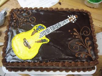 Guitar Grooms Cake by leprechaunbabe