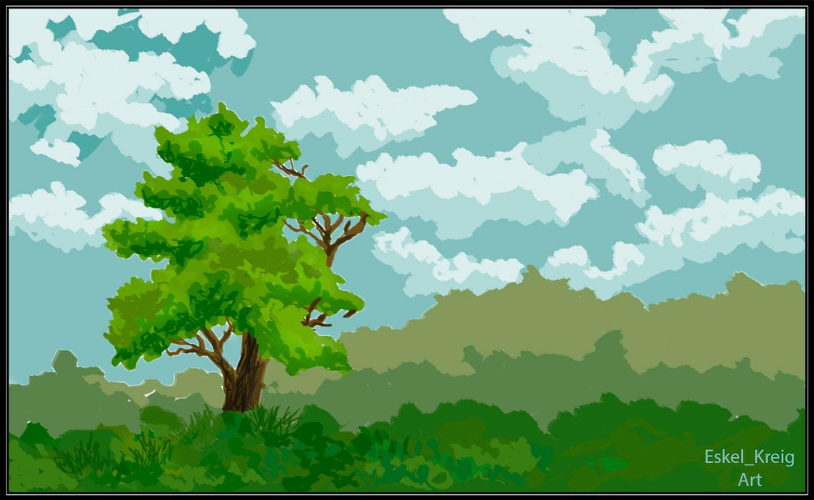 Minimalistic landscape by EskelKreig