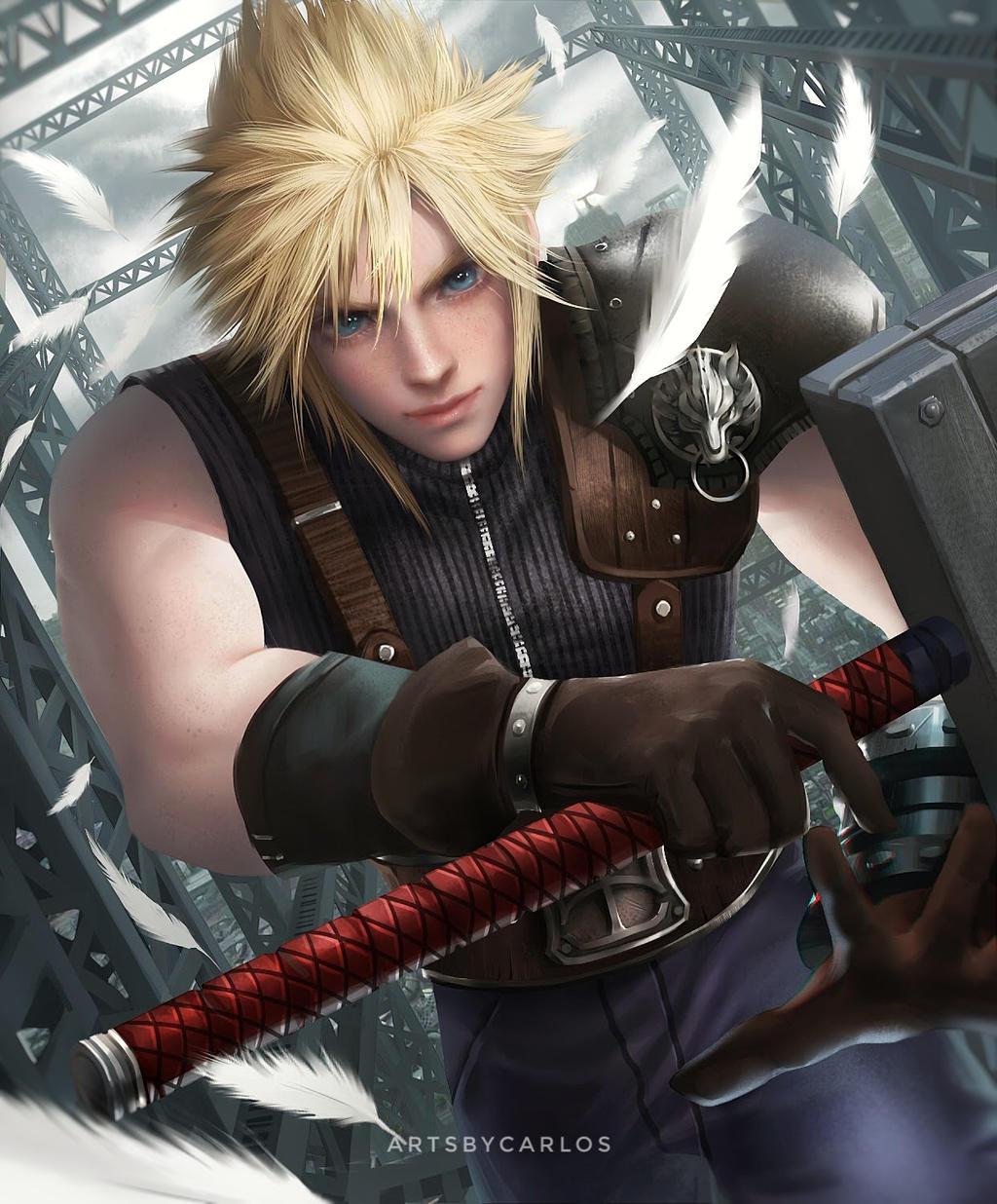 Final Fantasy Cloud Strife Wallpaper: Cloud Strife By Artsbycarlos On DeviantArt