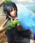 Young Sasuke by artsbycarlos