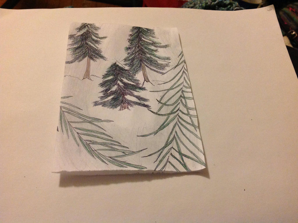Holiday Card Project: Lovely tree. by BlueRoseKelly