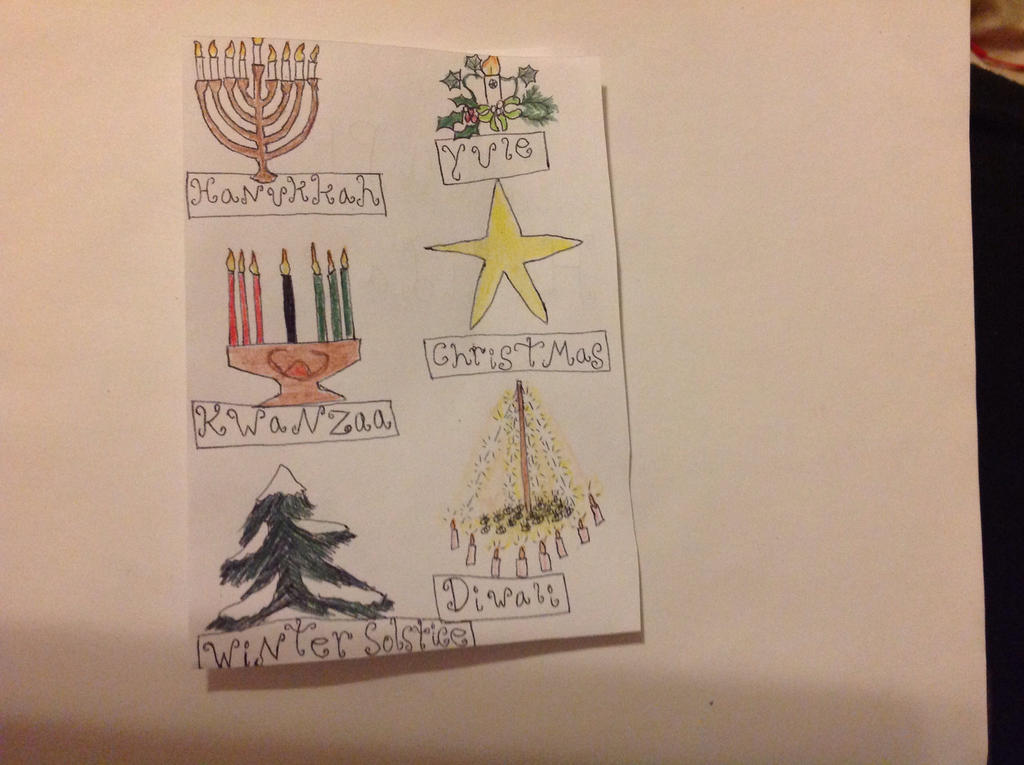Holiday Card Project: International celebration by BlueRoseKelly