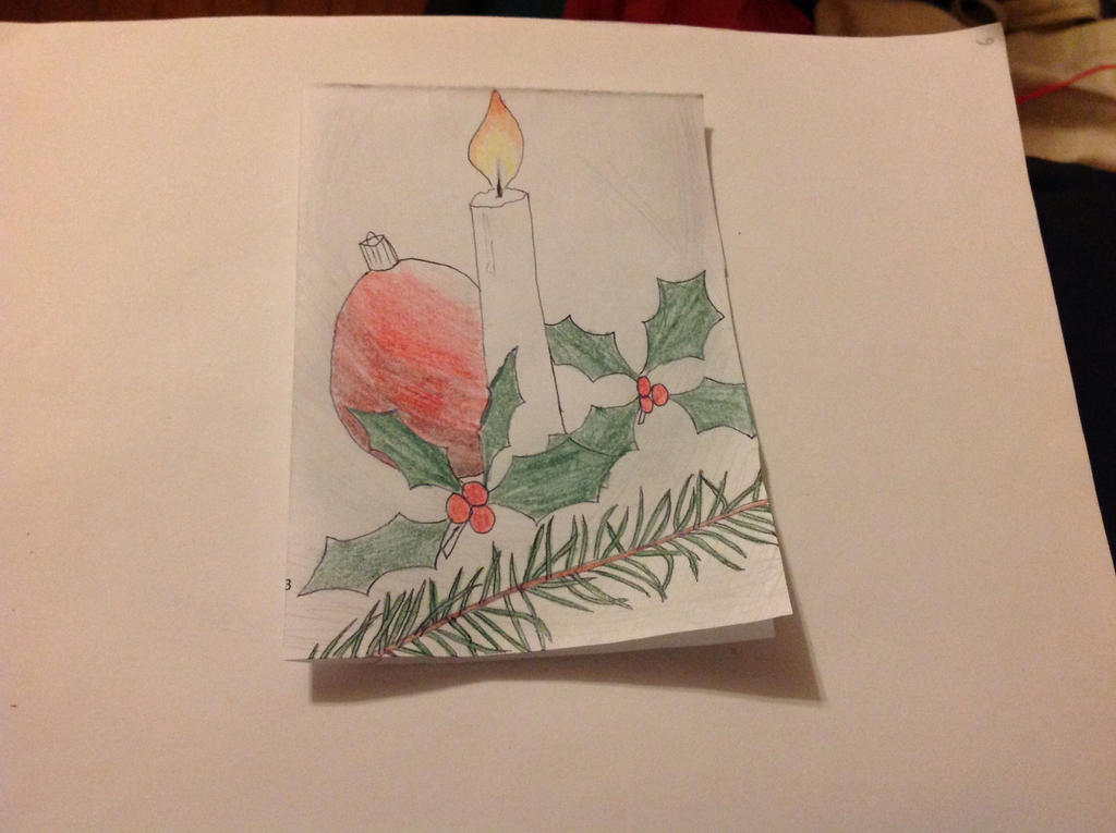 Holiday Card Project: Candle light. by BlueRoseKelly