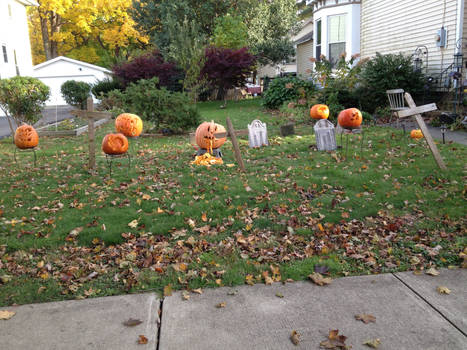 Final Halloween decorations ll