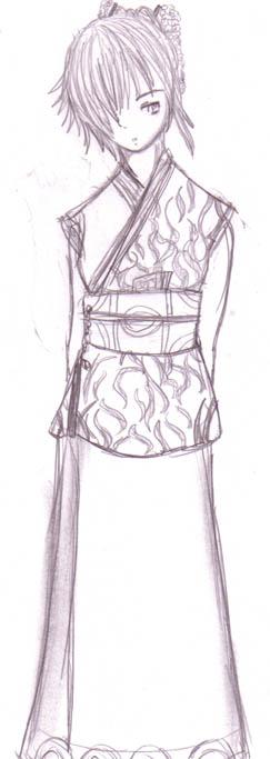 Yuri as a Geisha by DriRose