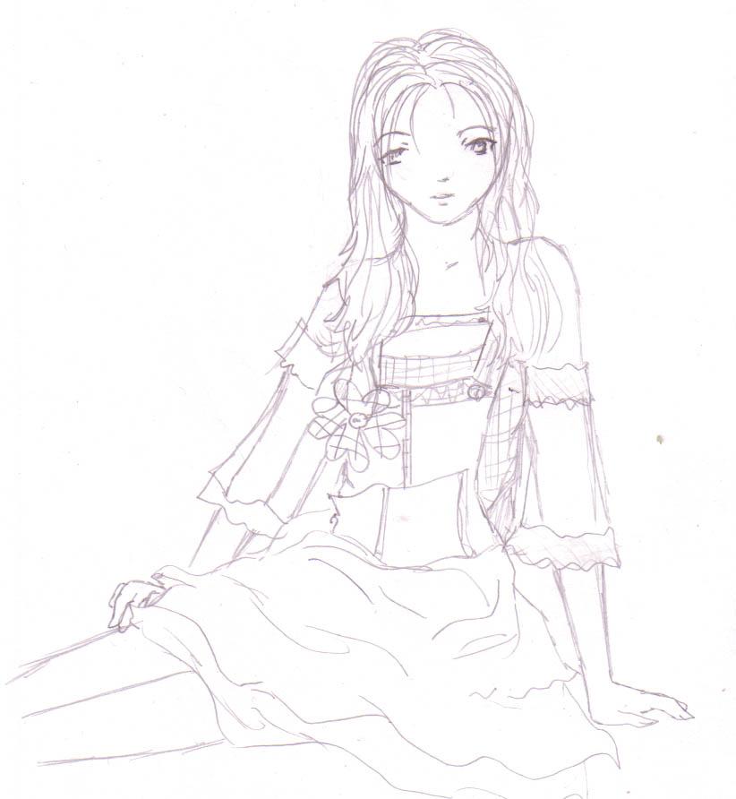 Desiree light pencil sketch by DriRose