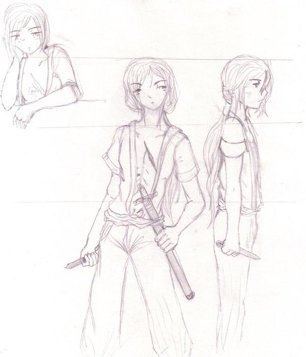 Shizumaru character sheet by DriRose