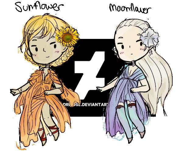Sunflower/Moonflower Adopts [ Open 1/2 ] by DriRose