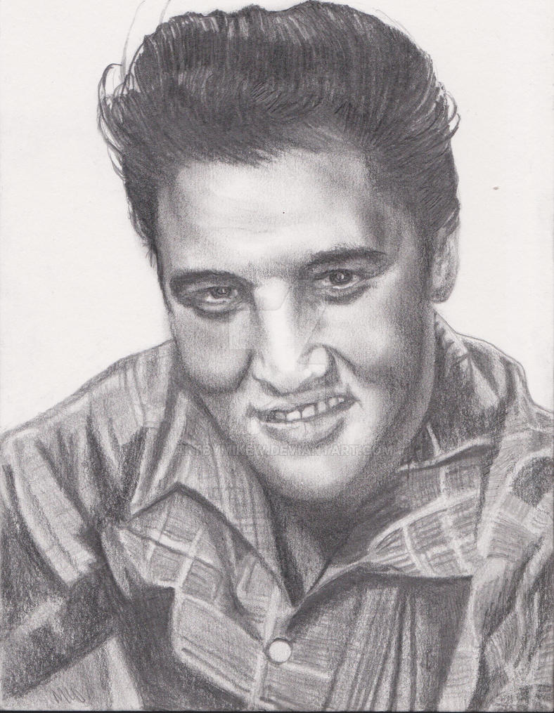 elvis presley from my original pencil drawing by artbymikew