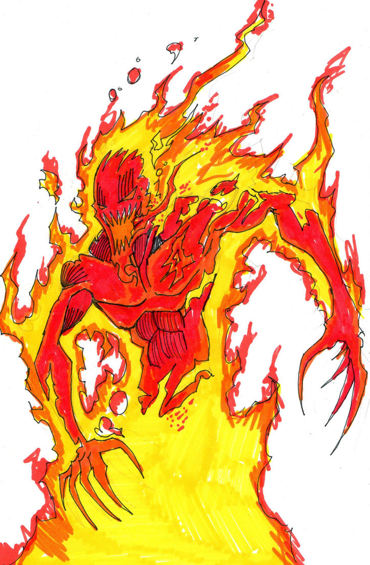 symbiote human torch by hulkling